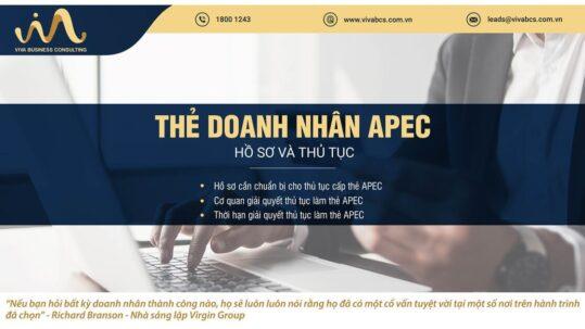 Thẻ doanh nhân APEC: thủ tục & điều kiện cấp thẻ