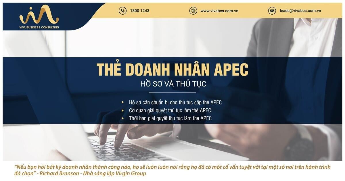 Thẻ doanh nhân APEC - hồ sơ và thủ tục