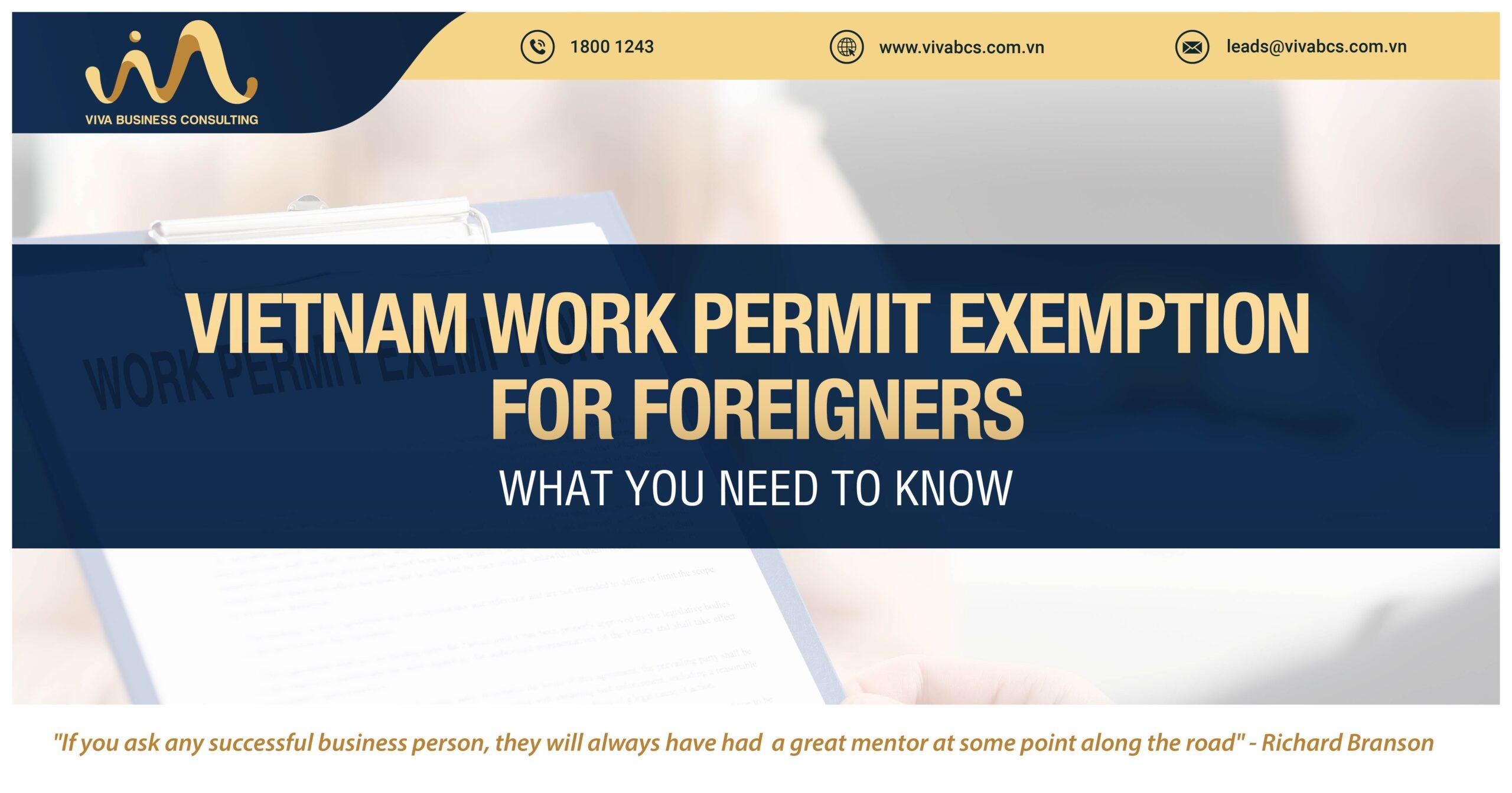 Expats in Vietnam: work permit exemption