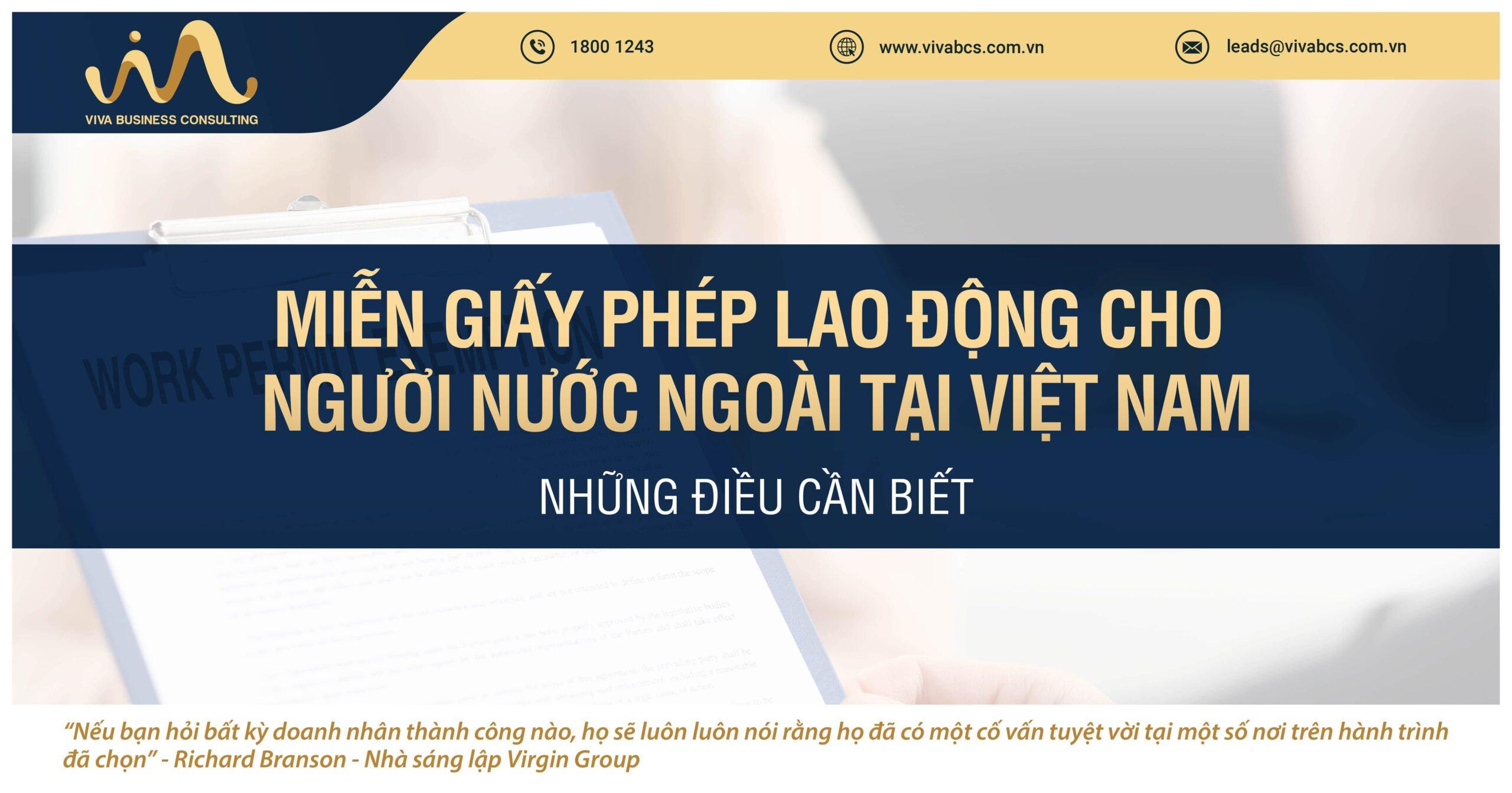 Miễn giấy phép lao động cho người nước ngoài tại Việt Nam