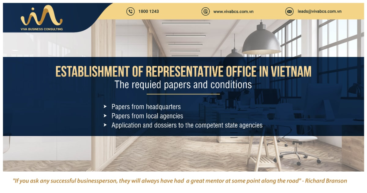 Establish representative office: Condition & Required papers