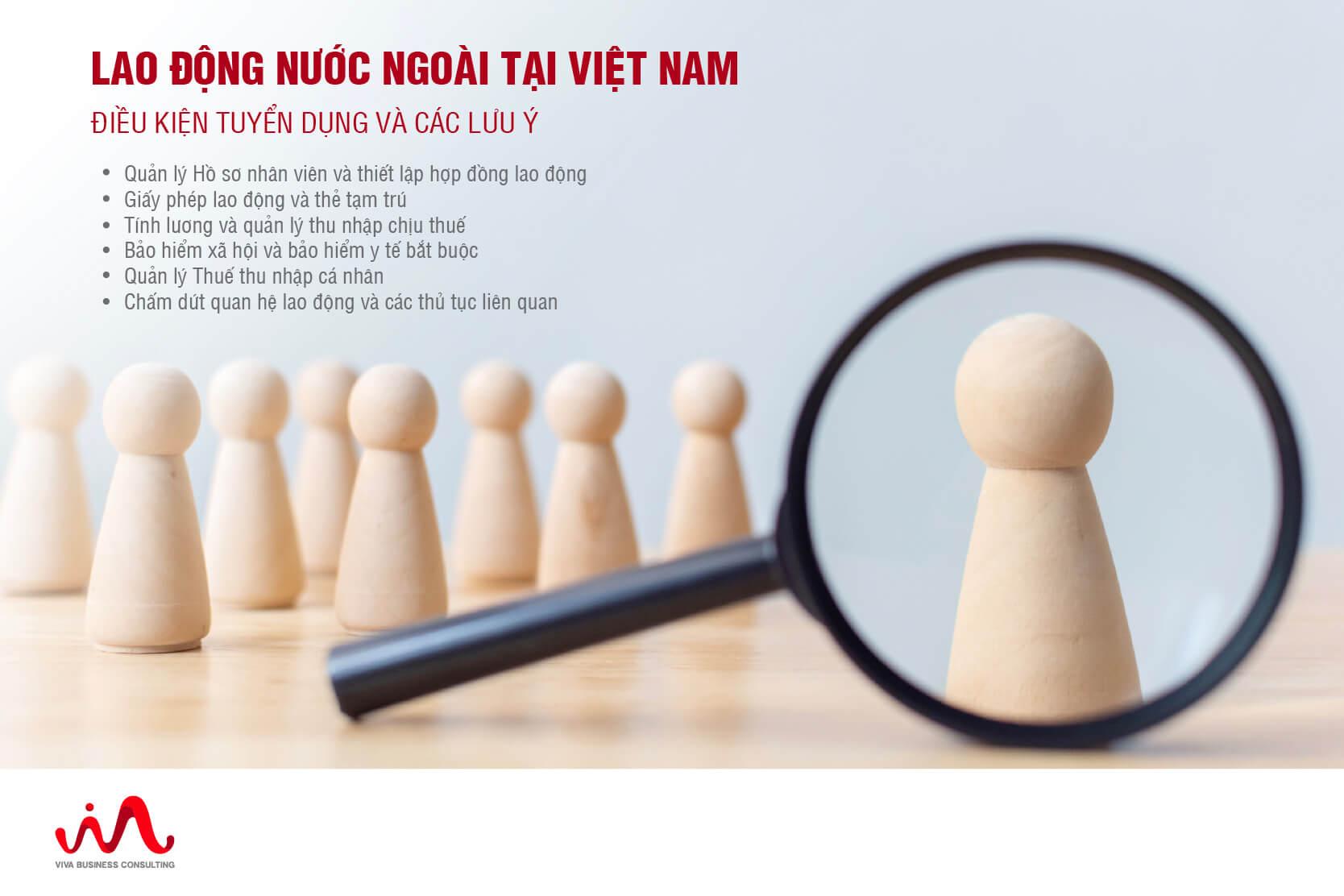 Tuyển dụng lao động nước ngoài làm việc tại Việt Nam