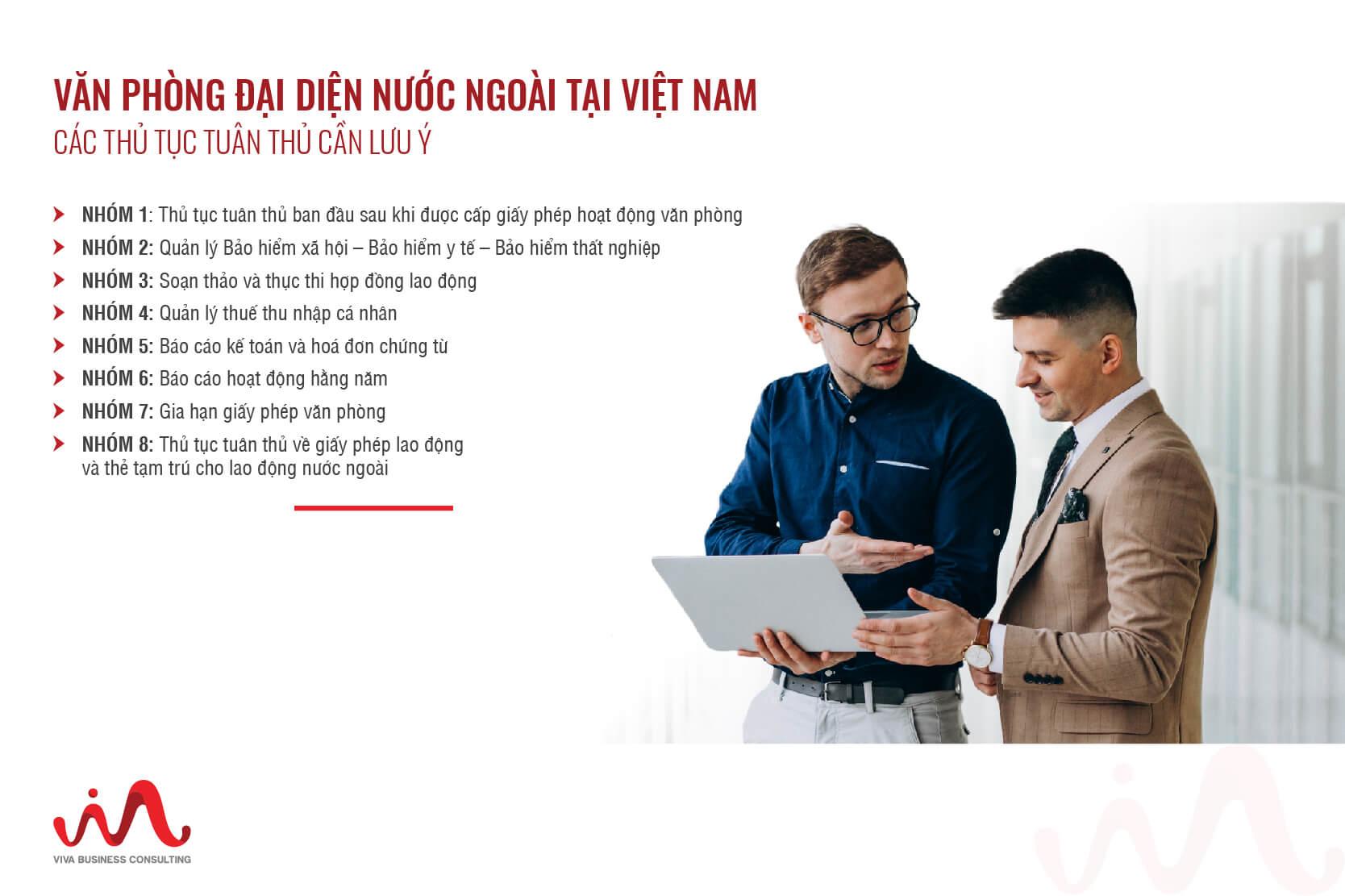 Thủ tục tuân thủ dành cho văn phòng đại diện nước ngoài tại Việt Nam