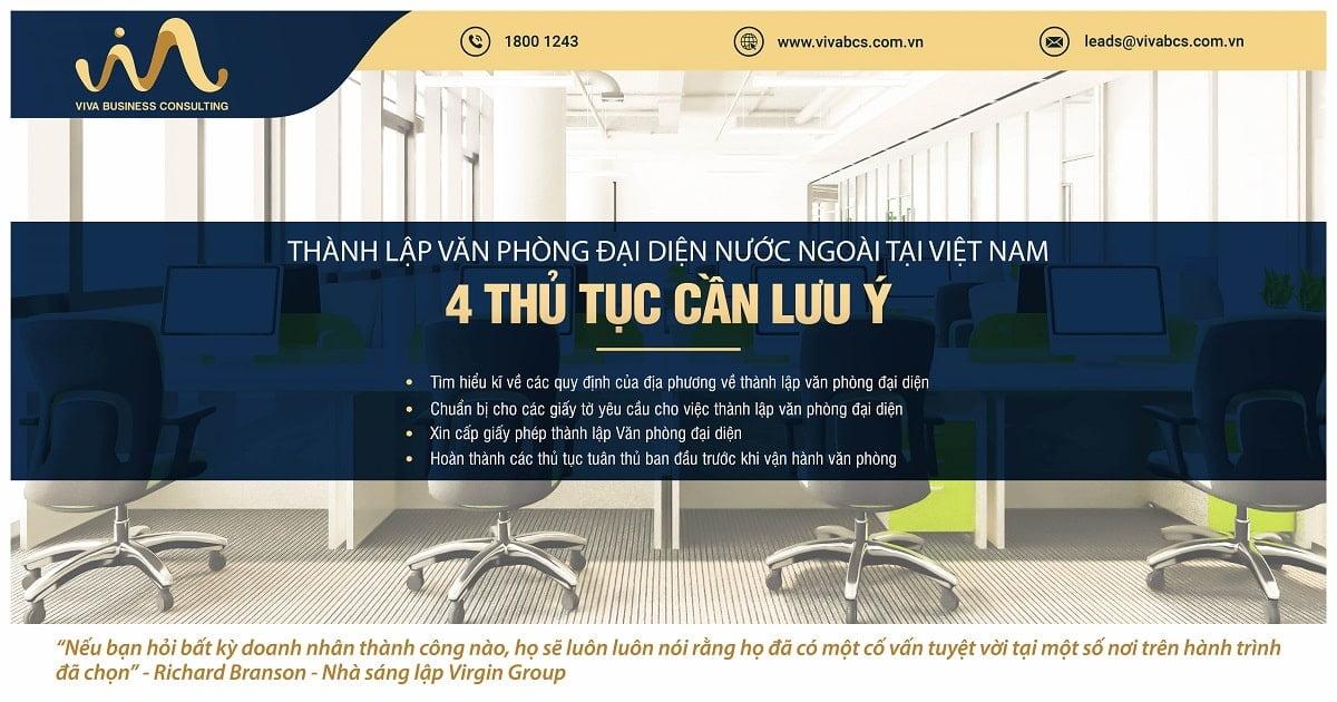 Văn phòng đại diện nước ngoài tại Việt Nam: 4 thủ tục cần lưu ý