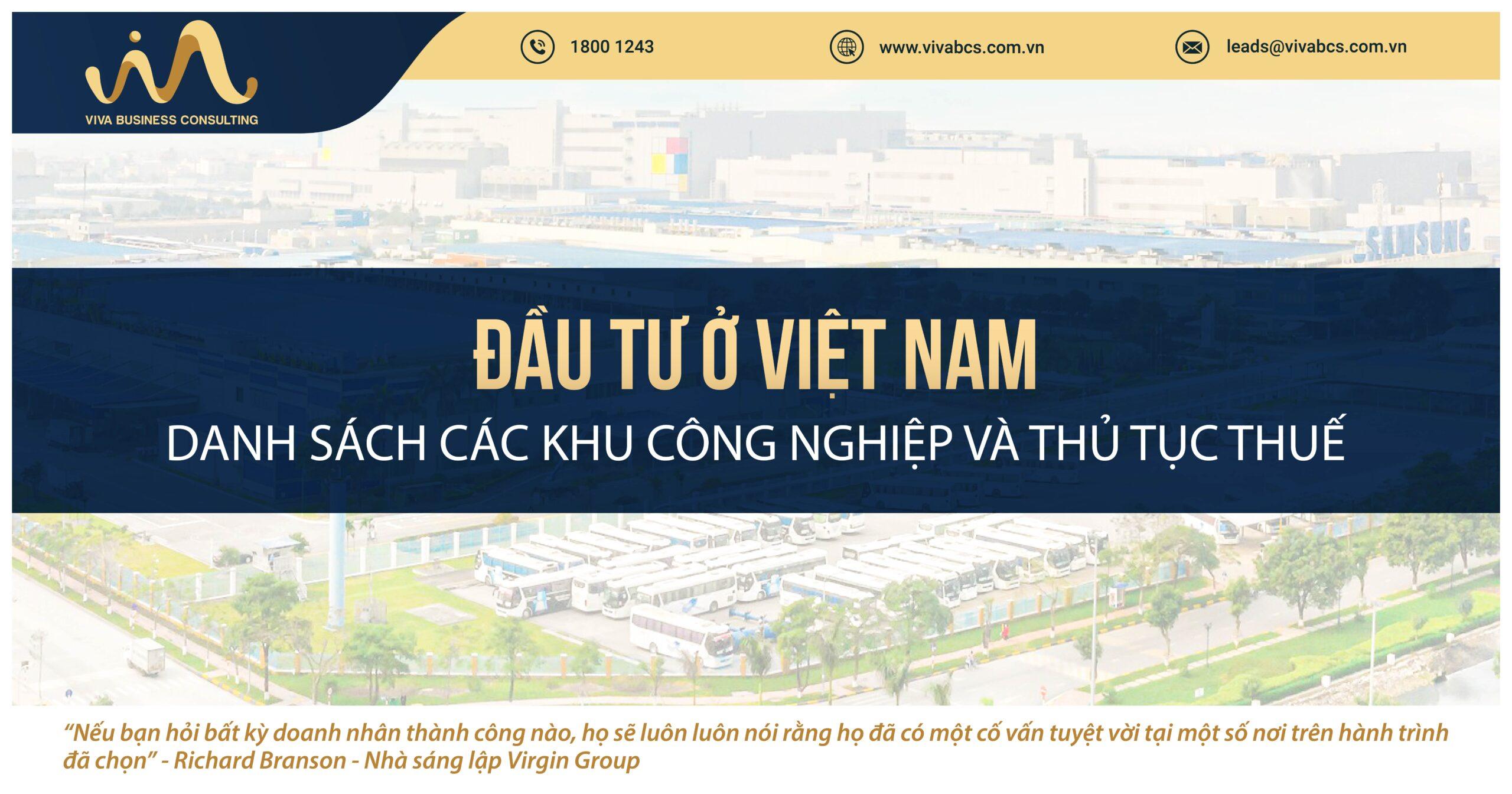 Đầu tư khu công nghiệp tại Việt Nam