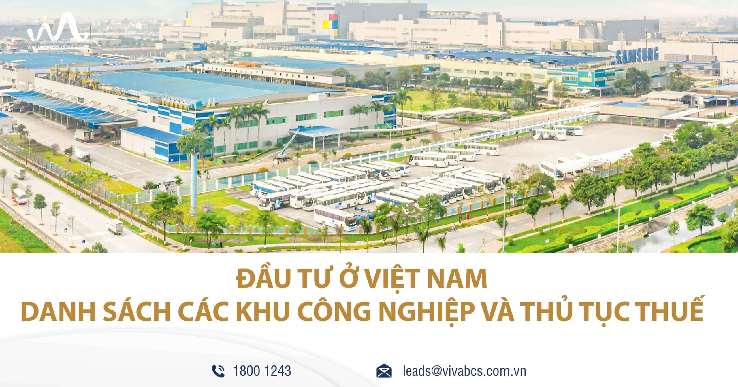 Đầu tư ở Việt Nam - các khu công nghiệp