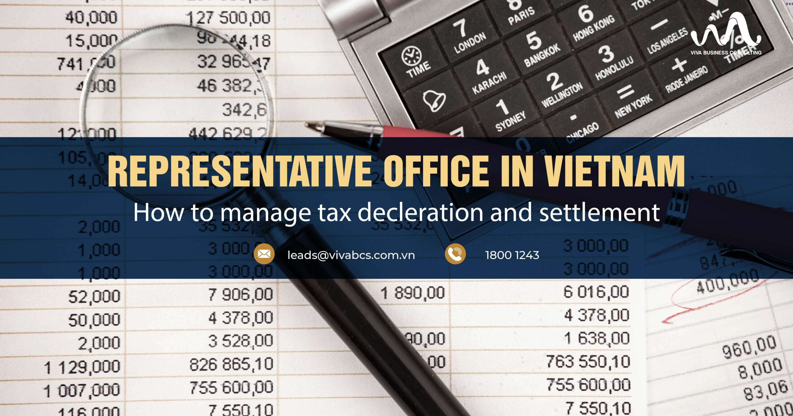 Representative Office in Vietnam: Tax declaration