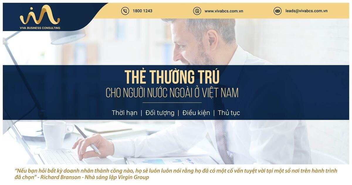 Thẻ thường trú cho người nước ngoài tại Việt Nam