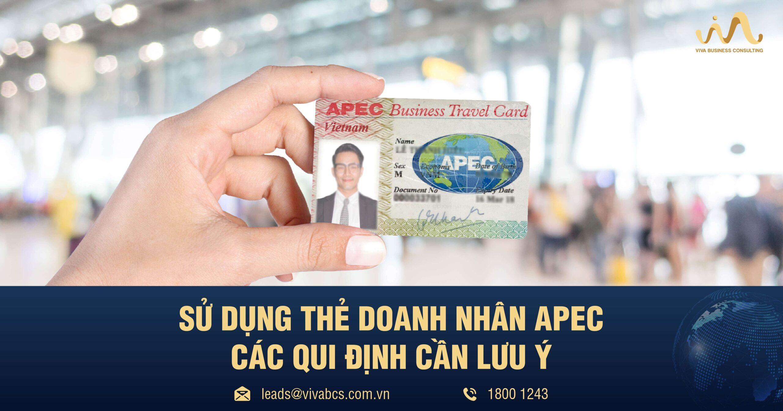 Quy Định Về Sử Dụng Thẻ Doanh Nhân APEC