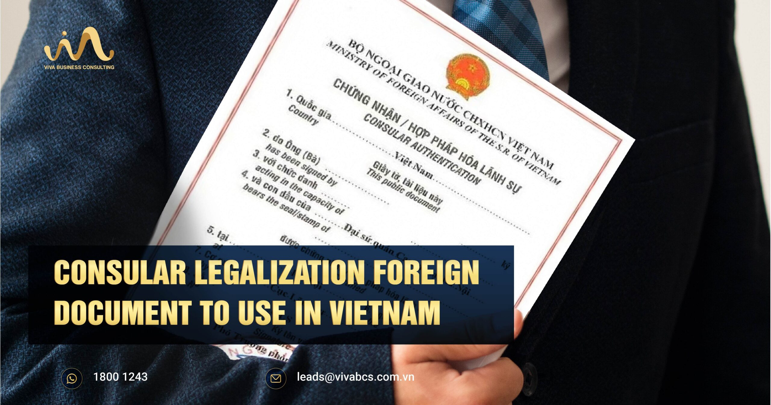 Consular Legalization Foreign Document To Use in Vietnam