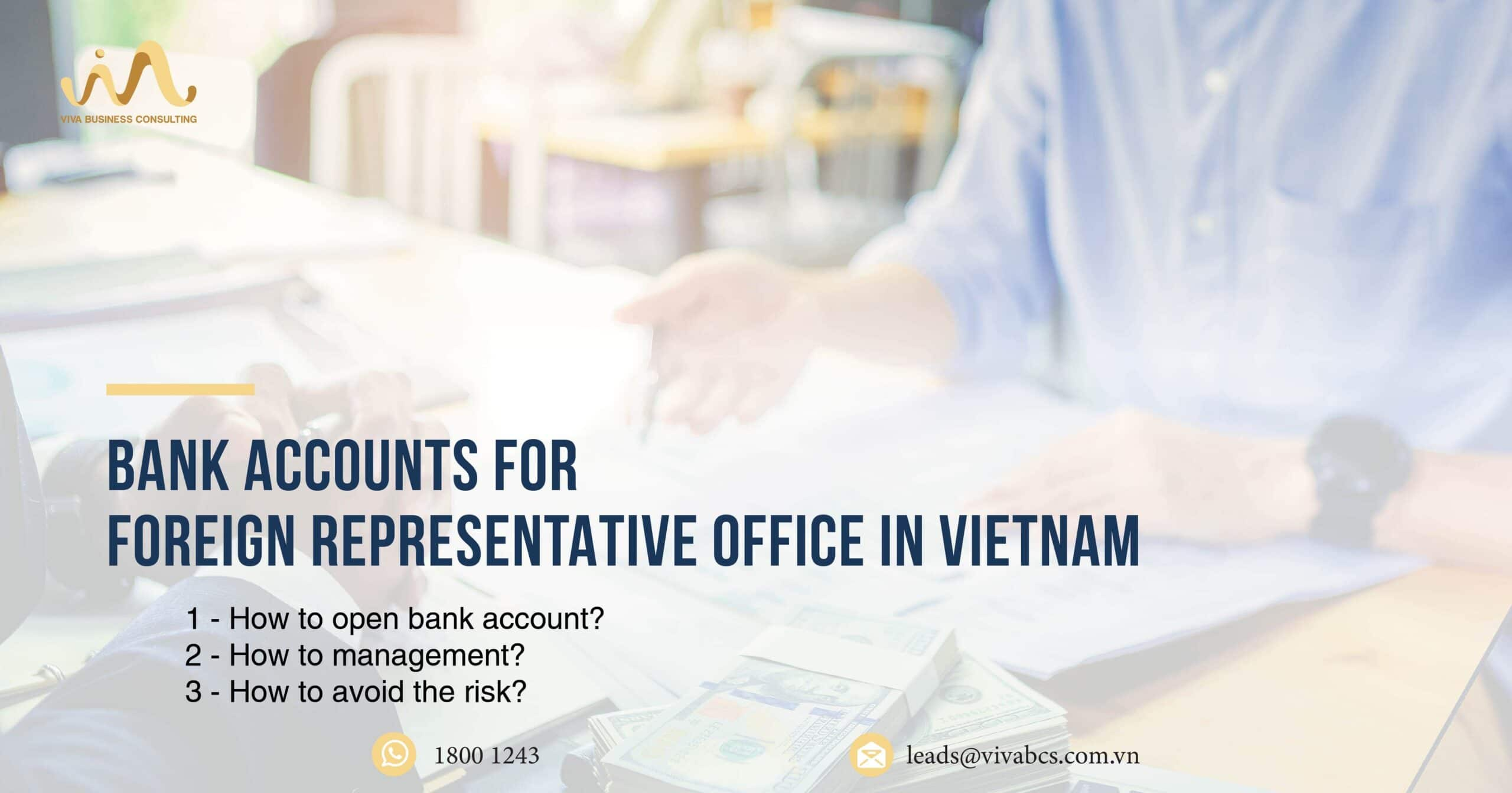 Bank account for representative office in Vietnam