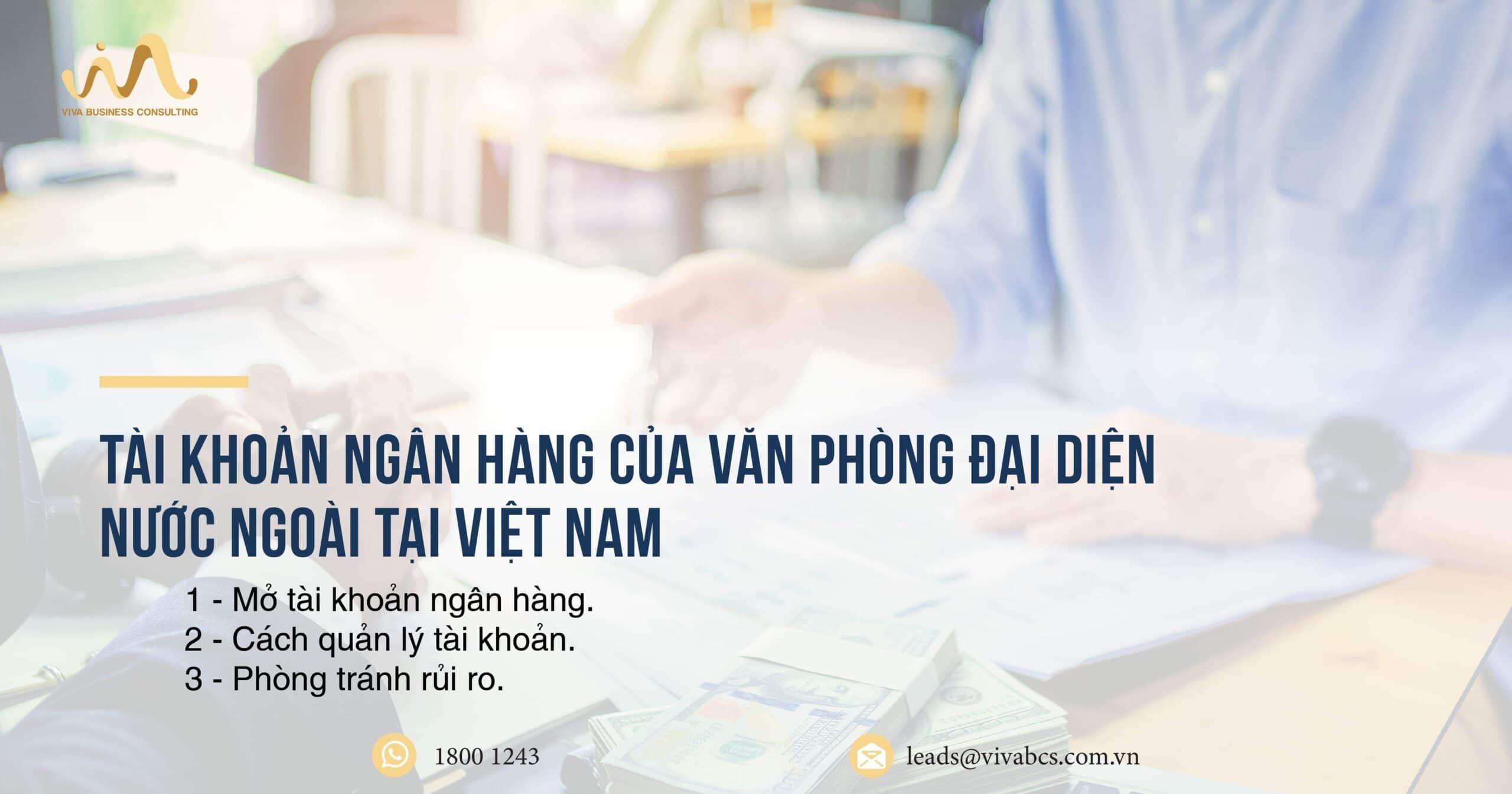 Tài khoản ngân hàng của văn phòng đại diện nước ngoài tại Việt Nam