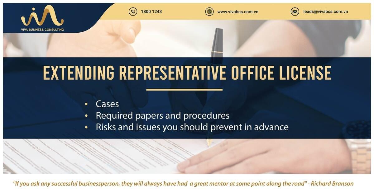 Extending representative offices license