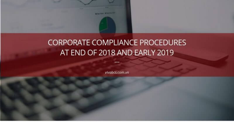 Corporate Compliance Procedures At End Of 2020 And Early 2021