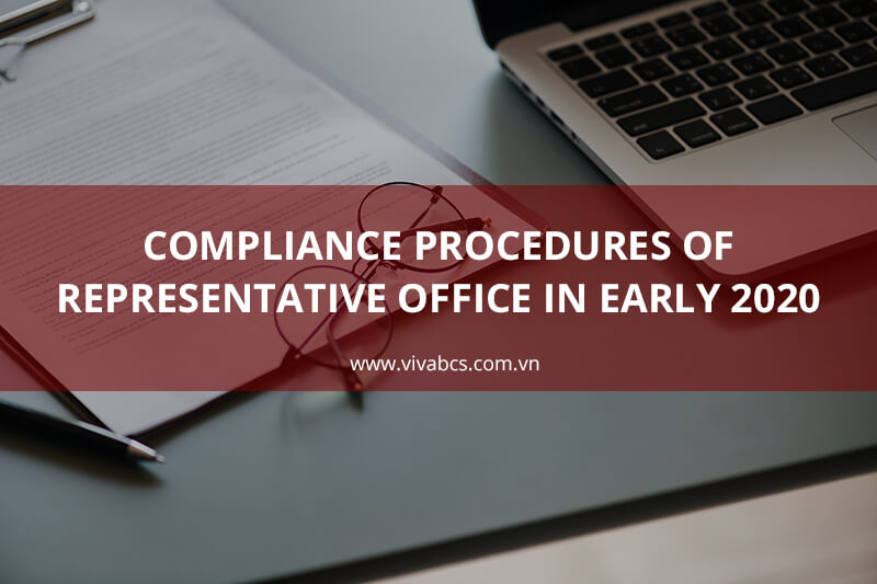 Representative office compliance procedures at the end of 2019 and early 2020