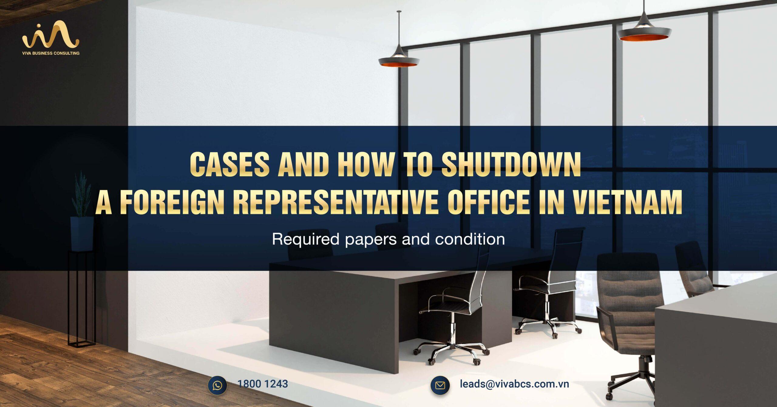 shutdown of representative office