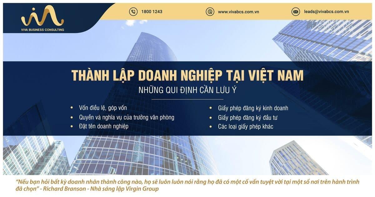 Thành lập doanh nghiệp tại Việt Nam: Qui định cần lưu ý!