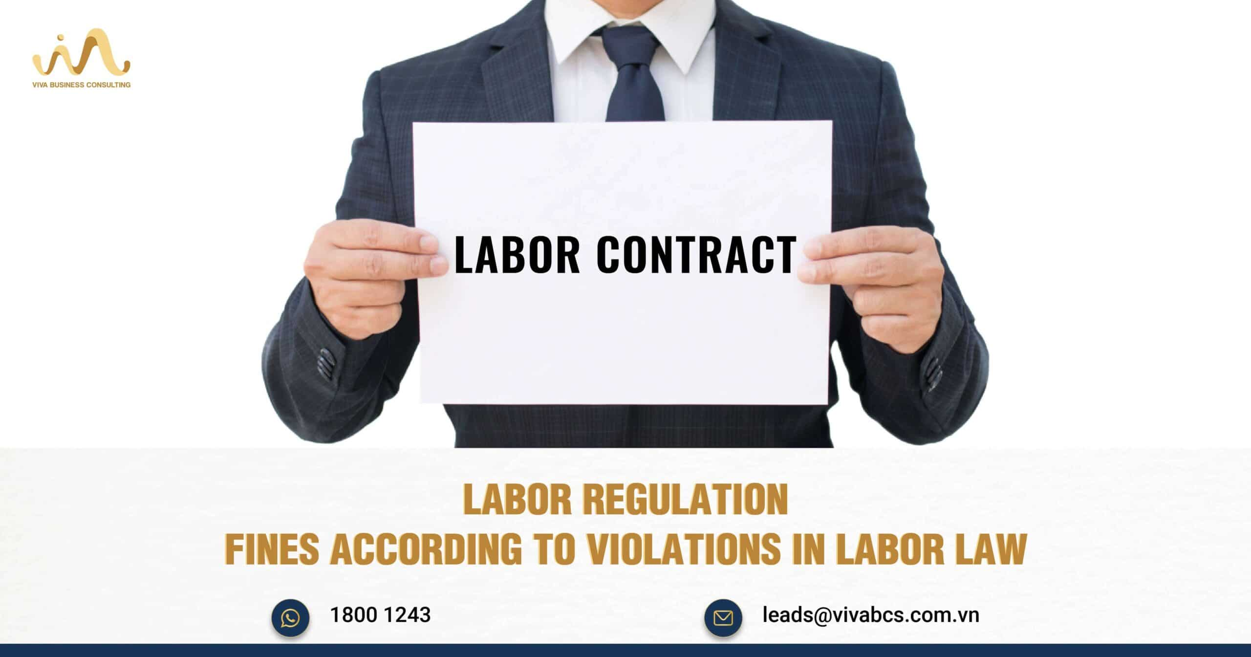 Fines According To Violations In Labor Law