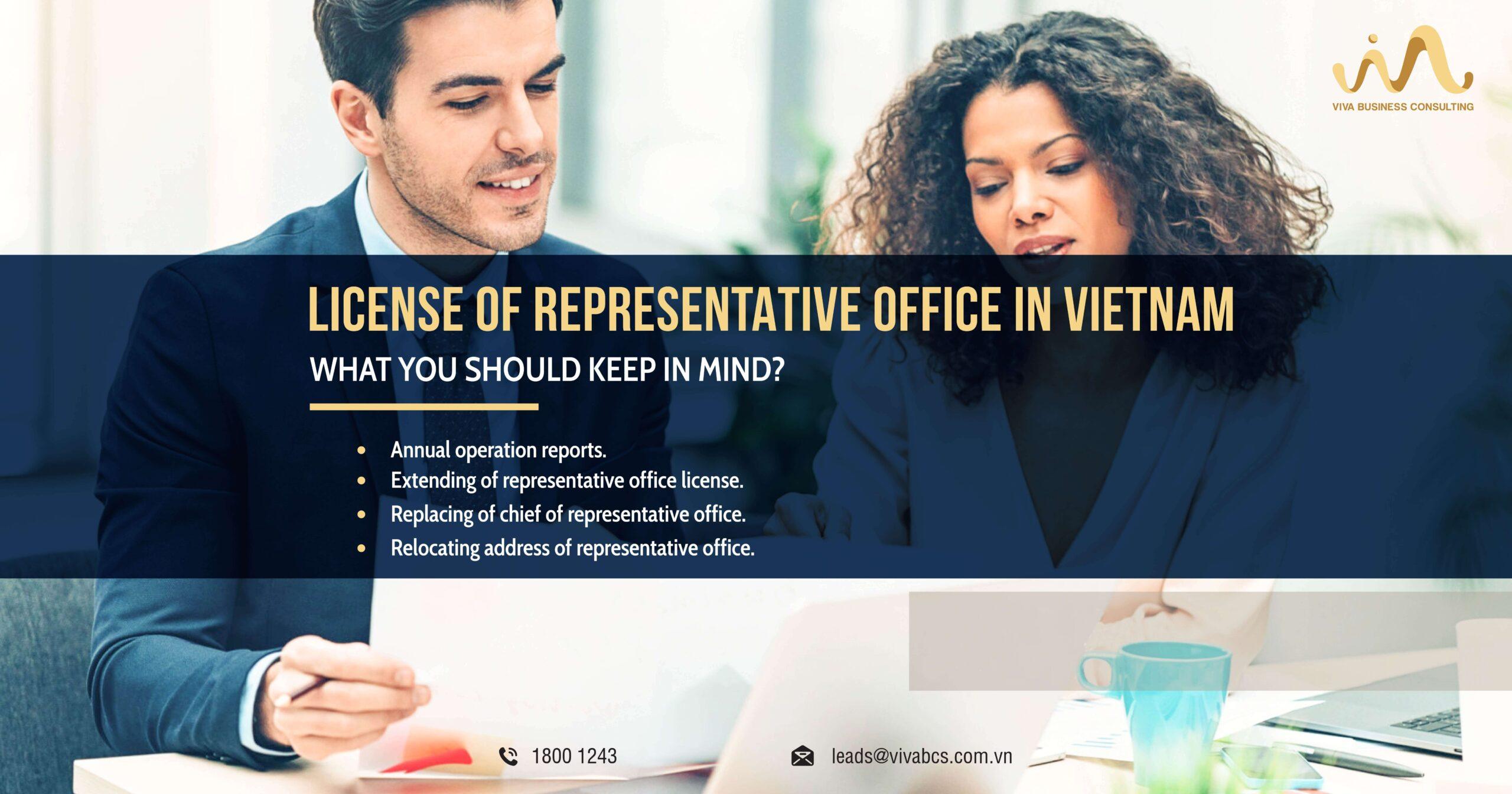 Compliance procedures for Representative office license