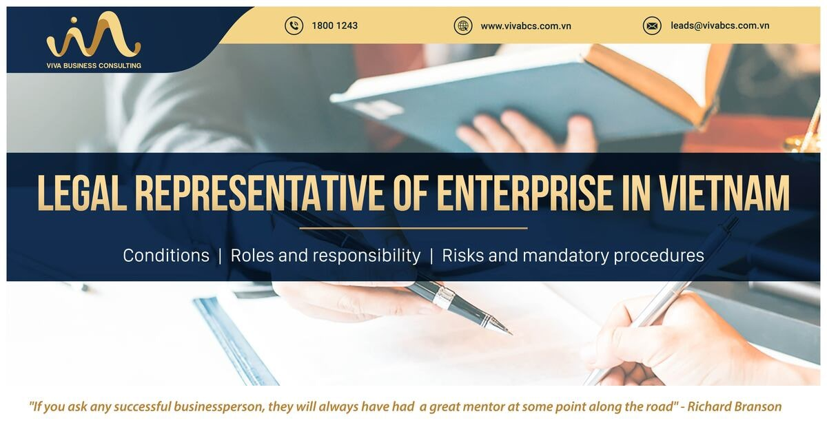 Legal representative of enterprise: Roles and responsibility