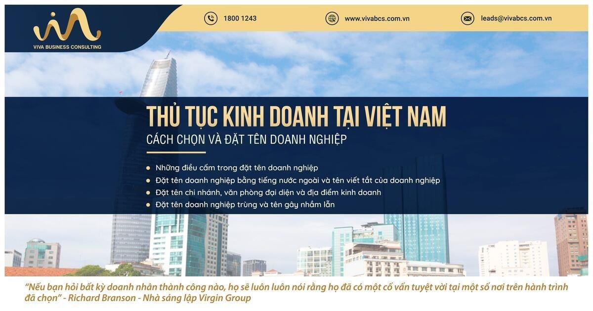 Kinh doanh tại Việt Nam: Chọn & Đặt tên doanh nghiệp
