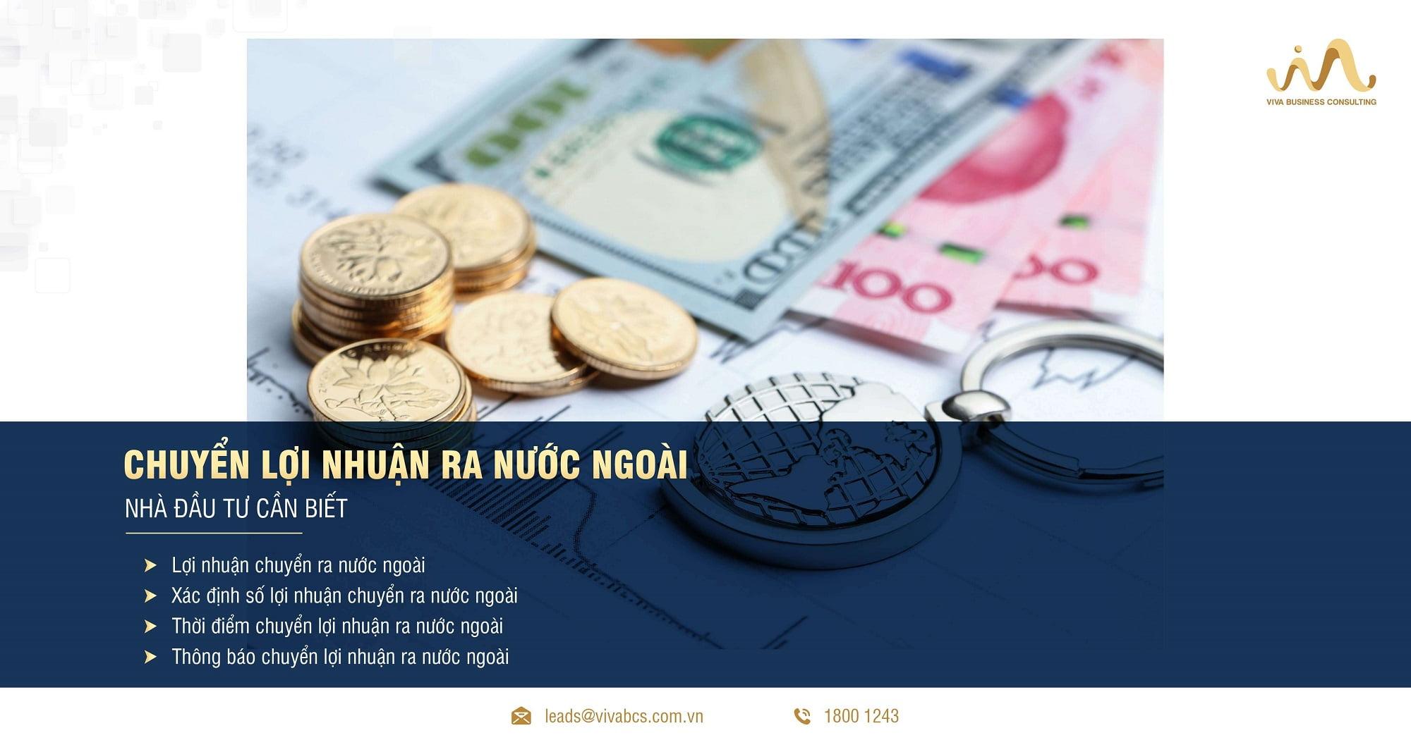 Chuyển lợi nhuận ra nước ngoài: Những điều cần biết !
