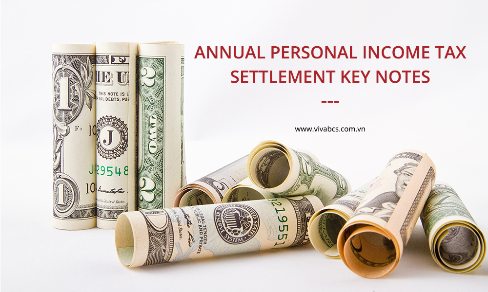 Annual Personal Income Tax: Settlement Key Notes