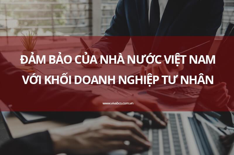 Đảm bảo của nhà nước khi kinh doanh tại Việt Nam