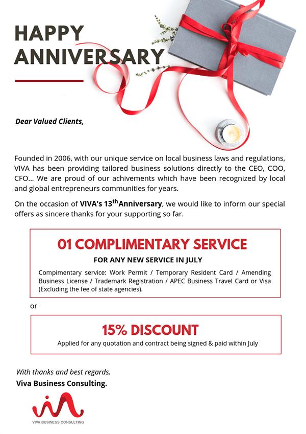 ưu đãi tháng 7 july promotion viva business consulting