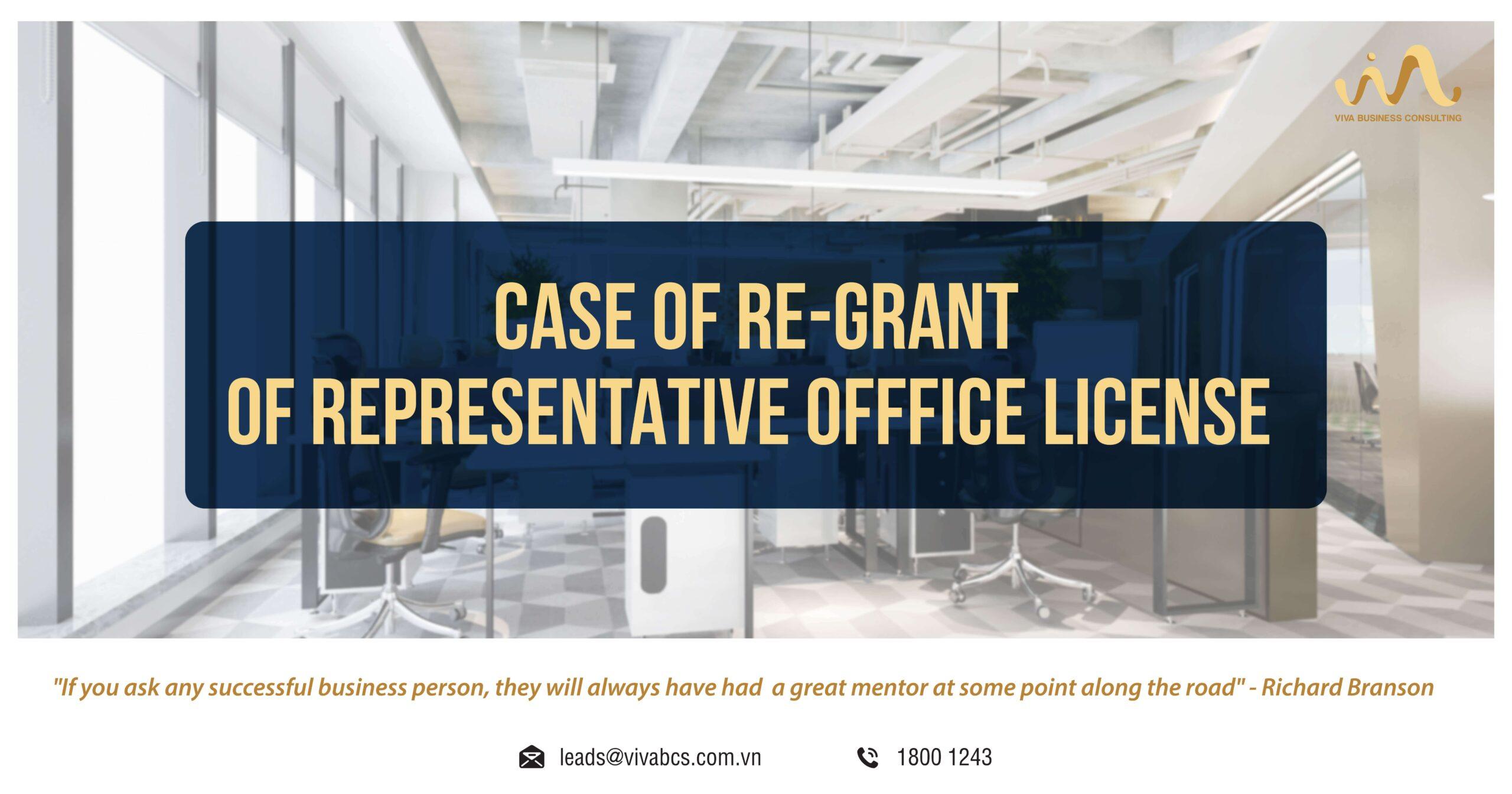 Representative office in Vietnam: Cases of Re-grant license