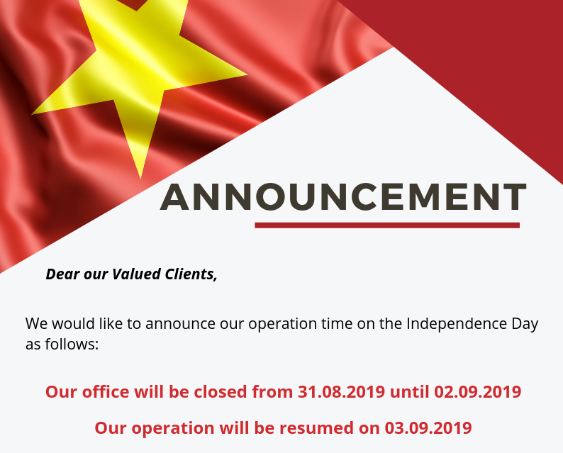 Announcement Vietnam Independence Day