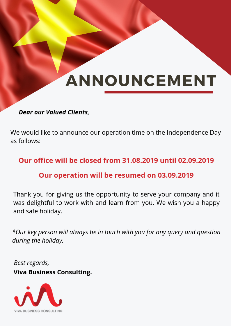 independence day announcement viva business consulting