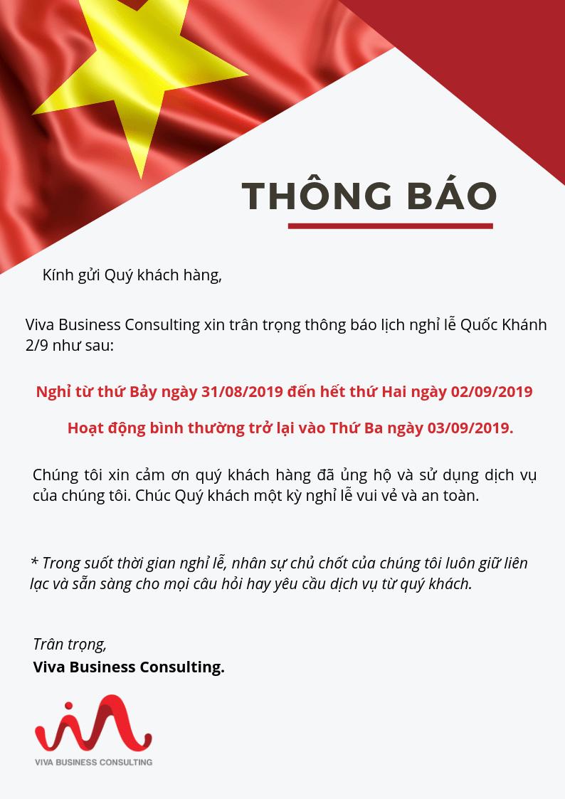 thông báo nghỉ lễ 2/9 viva business consulting