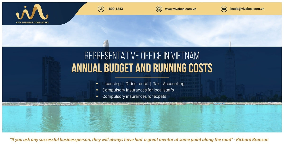 Representative office in Vietnam: Annual budget and running costs