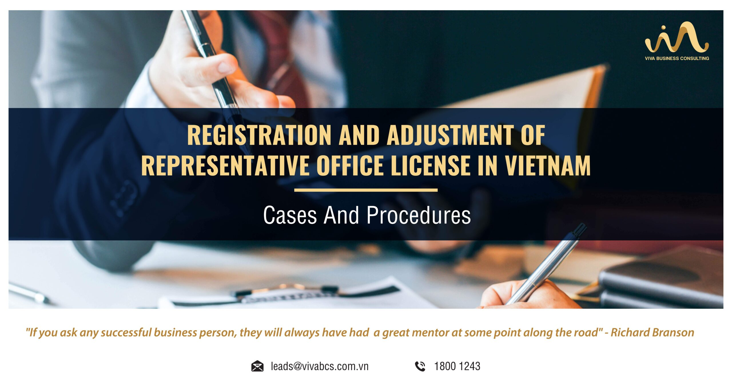 Representative office in Vietnam: Adjustment of License