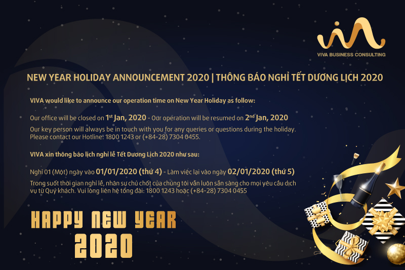 thong bao nghi tet new year holiday announcement