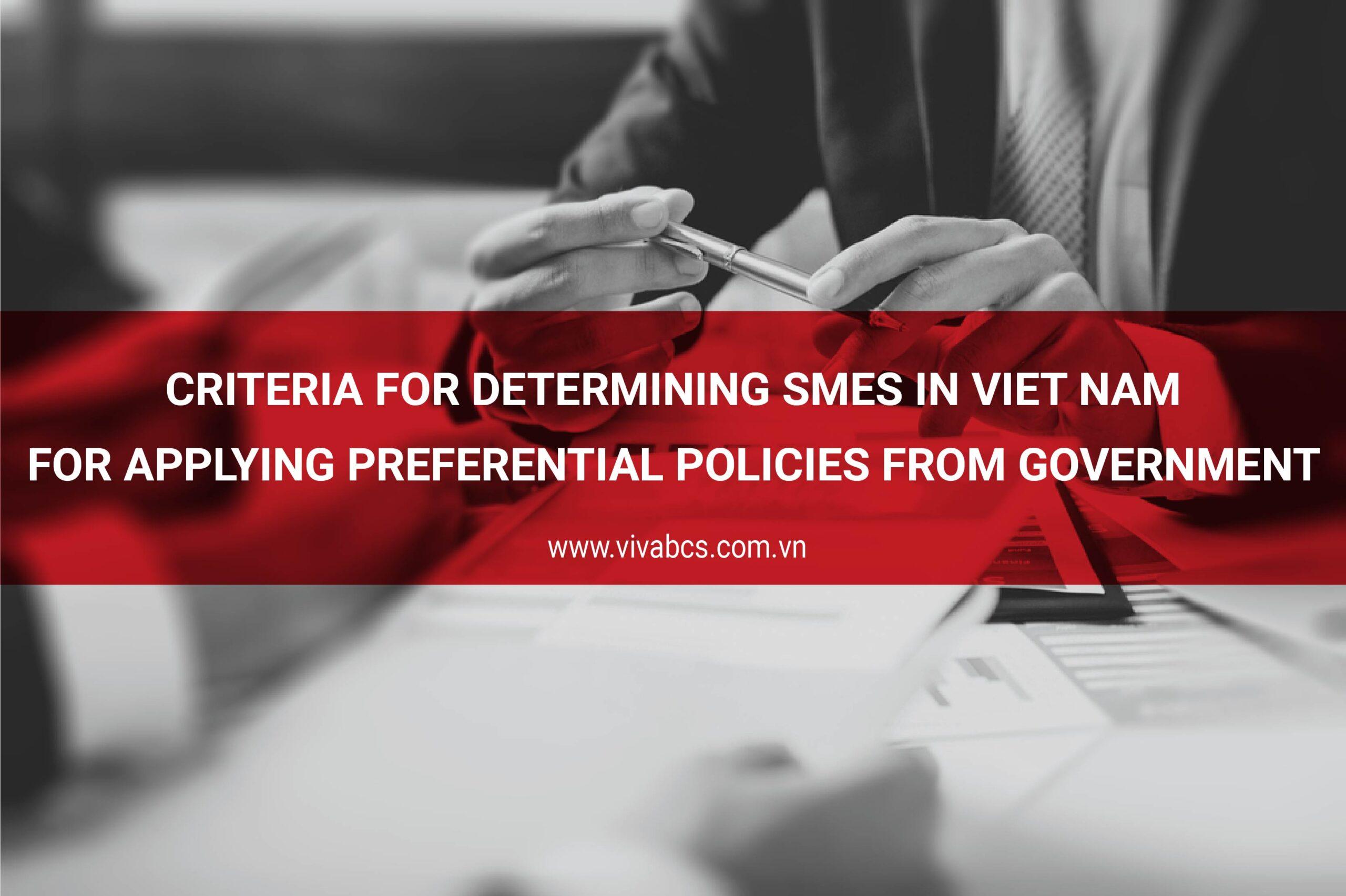 criteria for determining small and medium-sized enterprises
