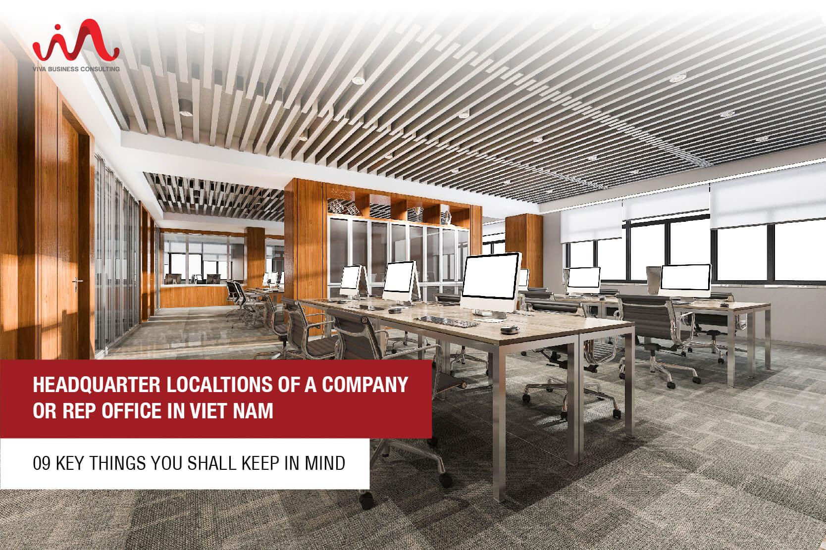 Headquarter locations of a company