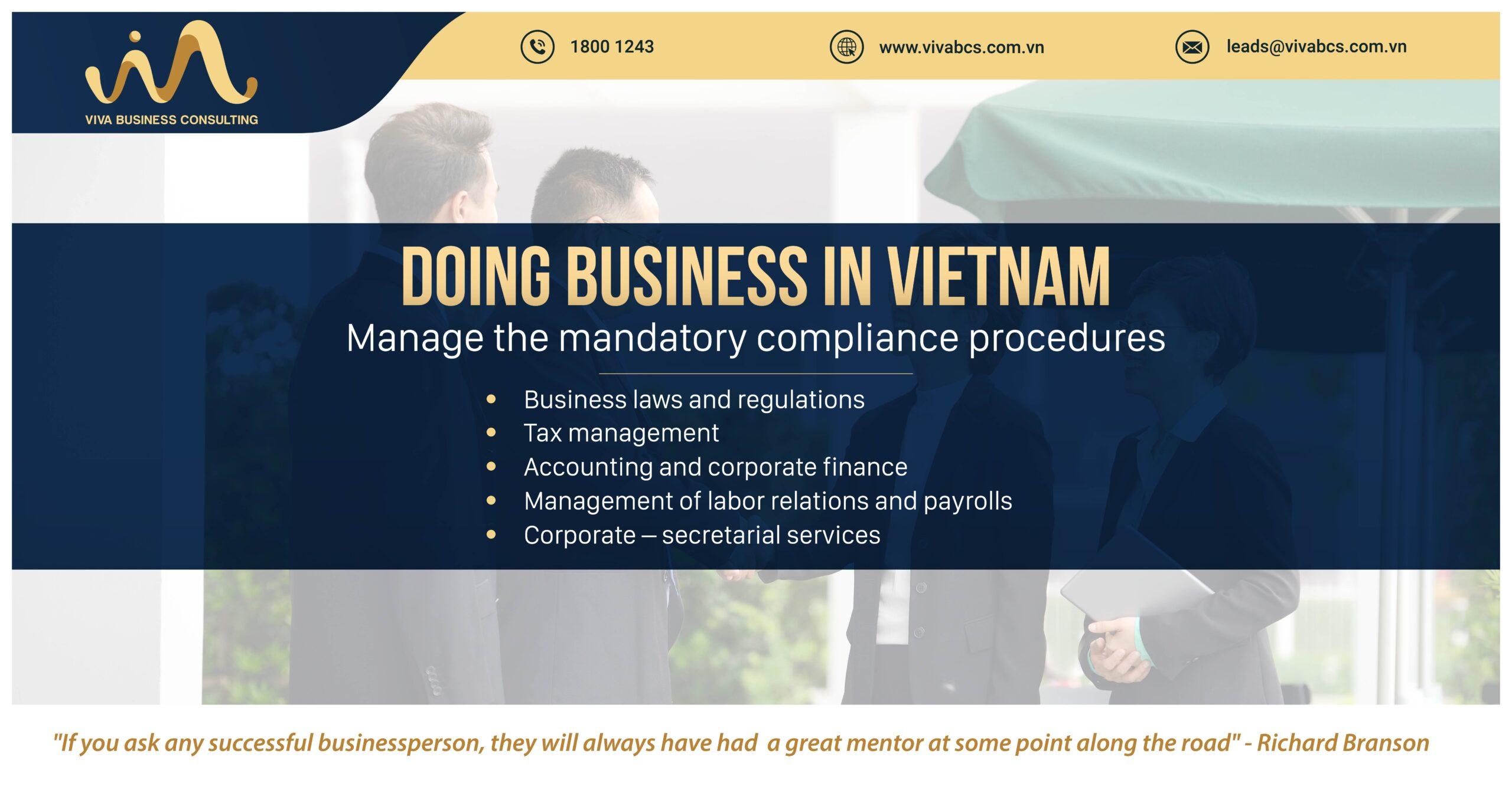 Doing business in Vietnam: Manage compliance procedures