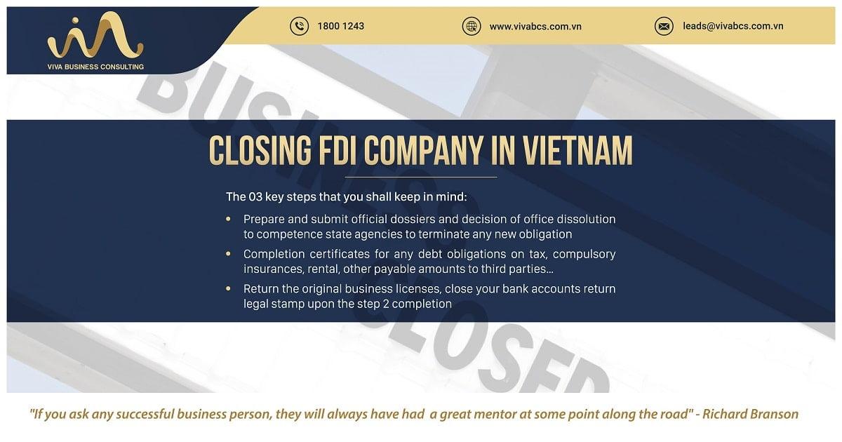 How to close FDI company in Vietnam