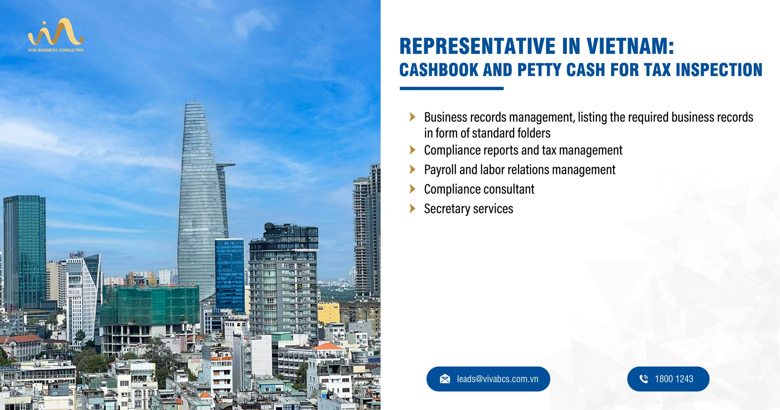 Represnetative office in Vietnam: Cashbook & Petty Cash