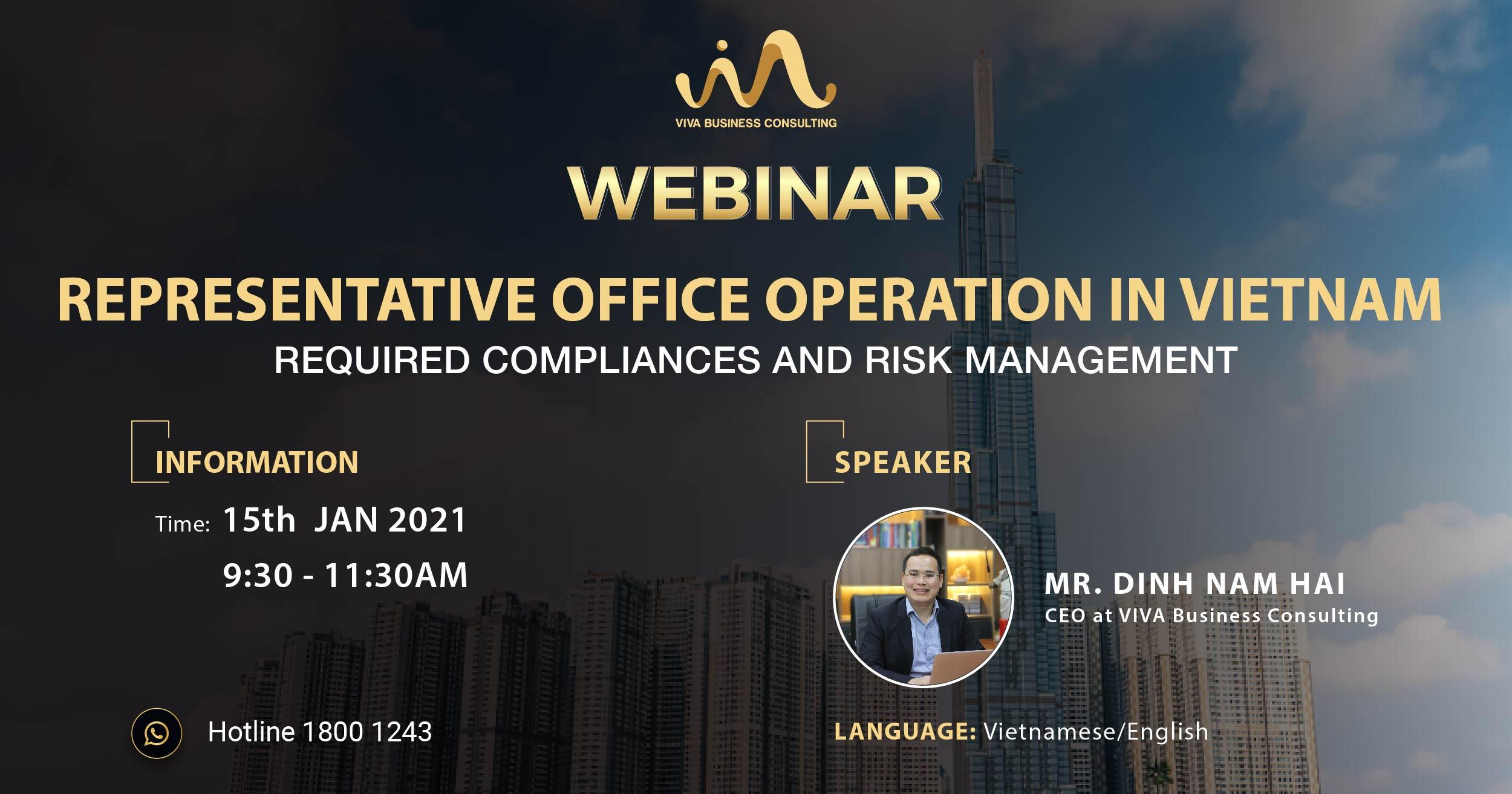 415 webinar 01 - [WEBINAR] REPRESENTATIVE OFFICE OPERATION IN VIETNAM – Risk management on operation