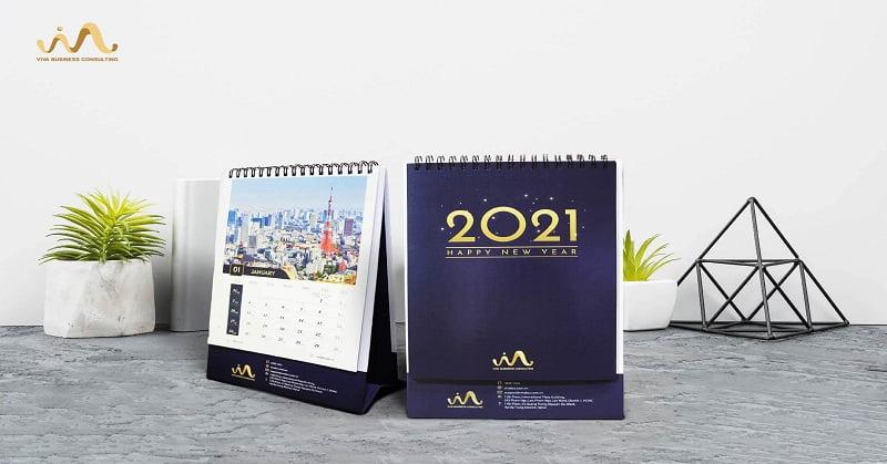 Bộ lịch để bàn năm 2021