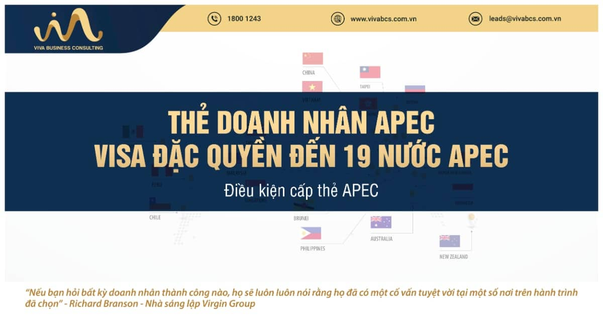 Thẻ doanh nhân APEC | Visa đặc quyền | VIVA BCS