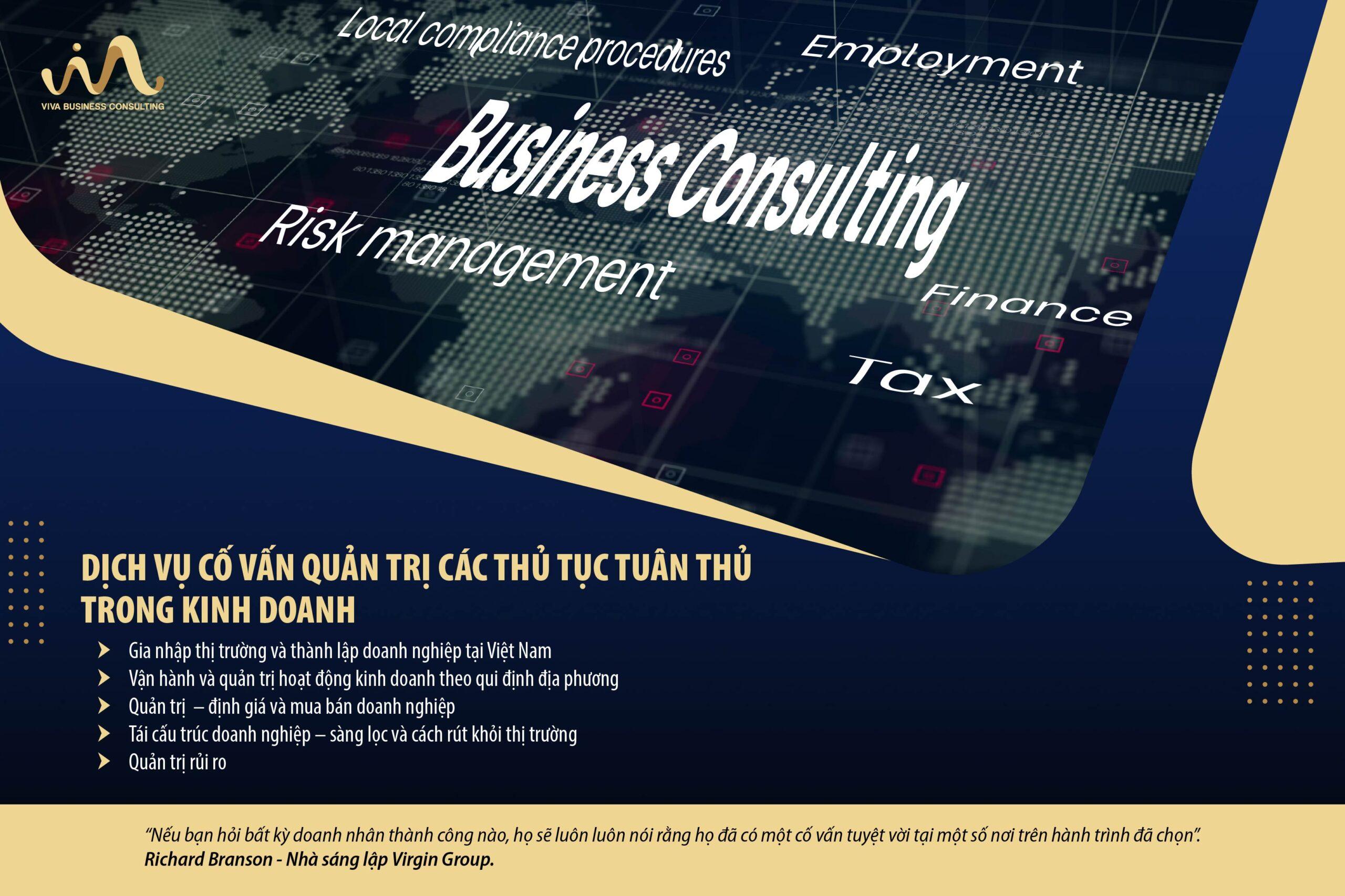 Dịch vụ cố vấn & quản trị các thủ tục tuân thủ trong kinh doanh