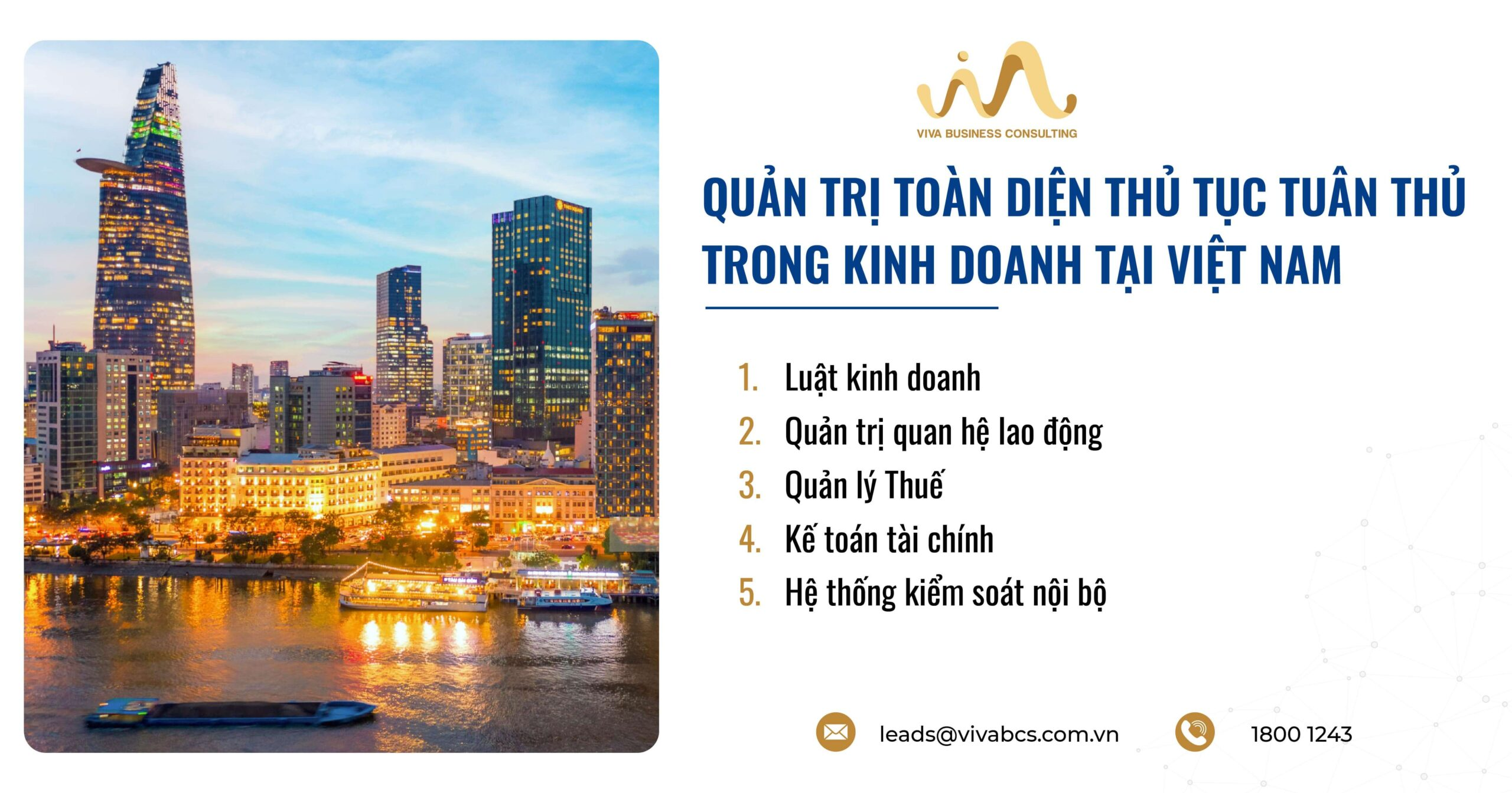 Quản trị toàn diện các thủ tục tuân thủ kinh doanh tại Việt Nam