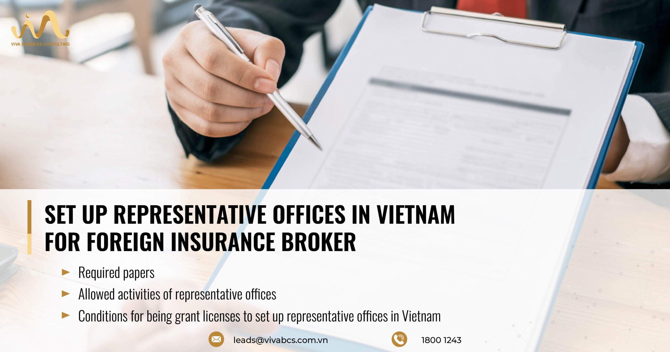 Representative offices in Vietnam: Foreign Insurance Brokerage
