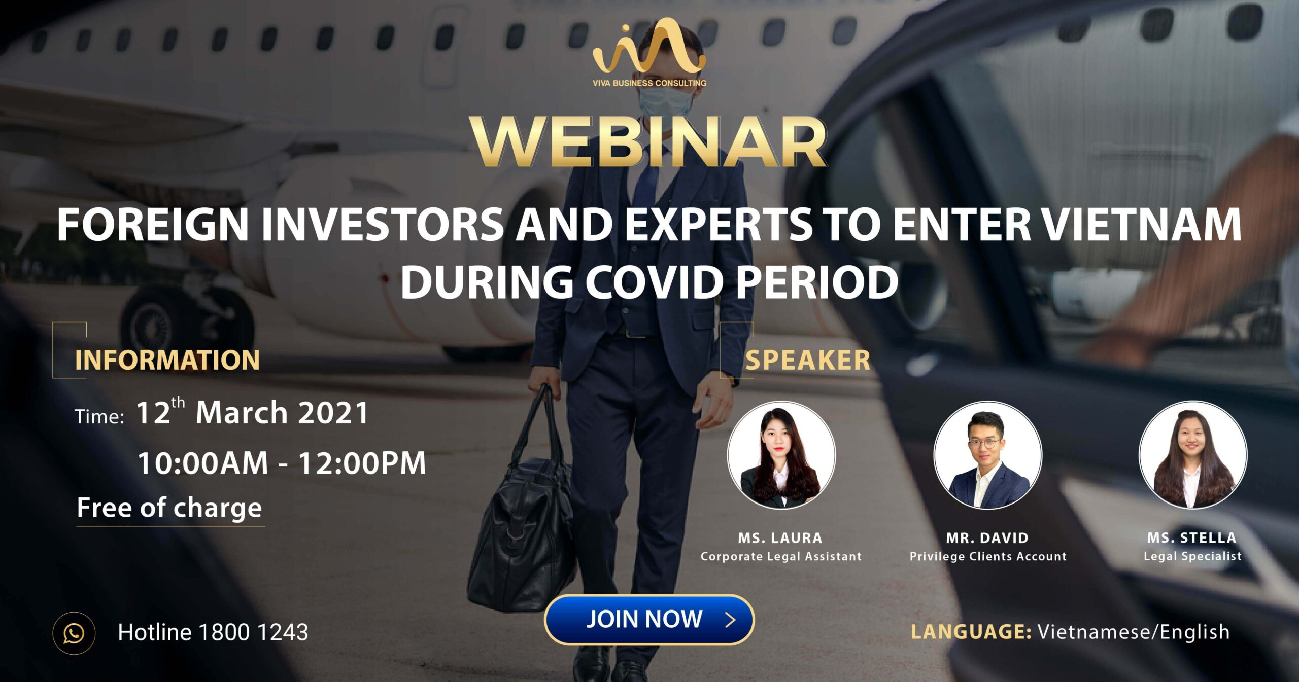 [WEBINAR] Foreign investors and experts to enter Vietnam during covid period
