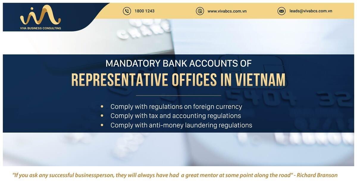 Bank accounts for representative in Vietnam