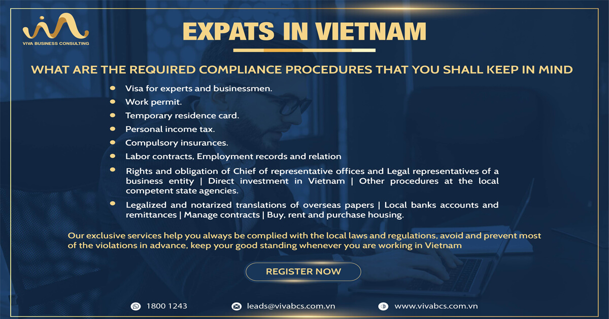 Foreigners who are working in Vietnam